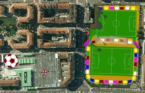 Roberto Vantaggi — Nuovo stadio Filadelfia di Torino