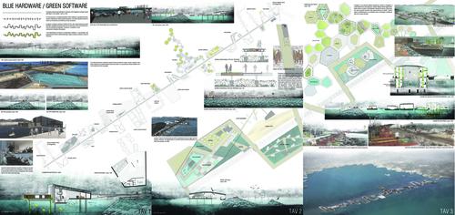 Daniele baiotto riqualificazione della diga foranea nel - Tavole di concorso architettura ...