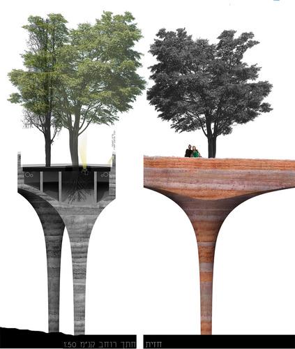 P&M palterer medardi architecture srl, David Palterer, Norberto Medardi — Hiriya Bridge, Ariel Sharon Park a Tel Aviv