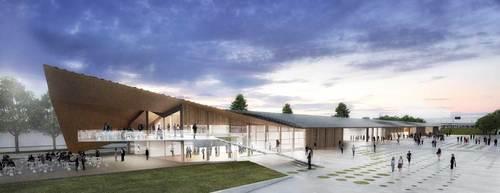 Kengo Kuma & Associates, Holzer Kobler Architekturen — Cosandey Square at EPFL (Ecole Polytechnique Federale de Lausanne)
