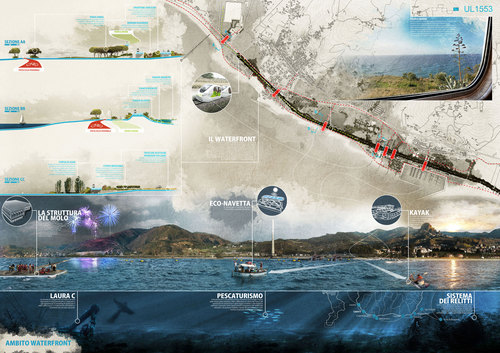LSB architetti associati — Riqualificazione del waterfront di Saline Joniche per un parco naturale antropico