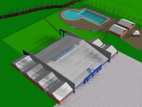 Vittorio associati studio di architettura nuova piscina comunale coperta divisare by - Piscina san pietro in gu ...