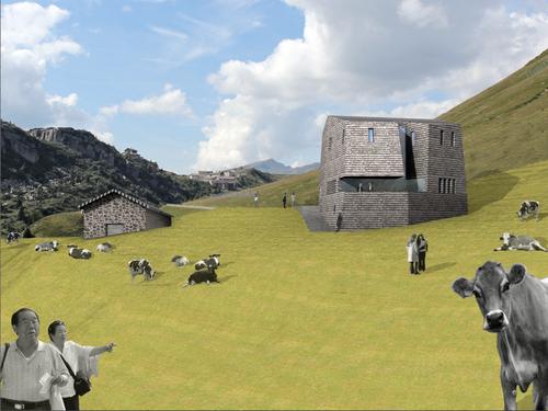 Rocco Zanoni architettura+design+arti, Walter Quaresima, roberto franceschini — Riqualificazione di Malga Fosse comune di Siror -passo Rolle