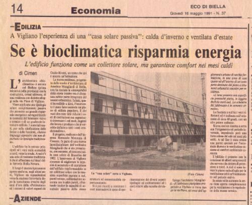 Anselmo mongilardi progetti realizzati ordine degli for Progettazione passiva della cabina solare