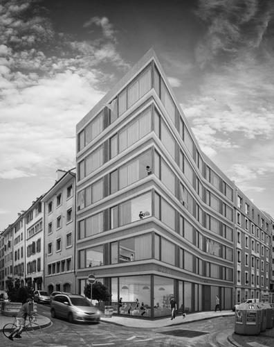 """COMBAS, MATHIEU GRENIER, SOPHIE DELAGE — Logements d""""rue des Cordiers 8"""". Genève"""