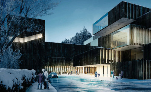 CODE Arkitektur, Mecanoo  — The Knowledge and Cultural Square. Kongsberg