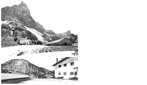 giorgio  isella — Compendio turistico alberghiero di Malga Fosse lungo il Passo Rolle