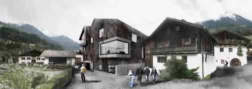 weber+winterle architetti — Biblioteca e laboratorio Protetto
