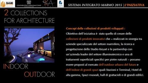 Studio Keyart - Architecture Urban Design — Sistema integrato marmo 2015