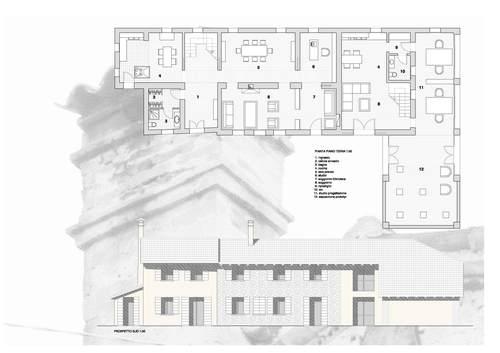 Ivano zavarise progetto di recupero edificio rurale sui for Progetto piano terra