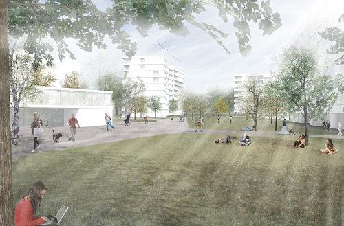 Philippe Clochard, In Situ Sa Architectes-paysagistes, Lopes & Périnet-Marquet architectes — Evolution urbaine du perimetre Vieusseux - Villars – Franchises. Genève