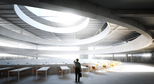 T 160 Landschaftsarchitektur, MOA – Miebach, Oberholzer Architekten — New Central Library in Tempelhof-Schöneberg