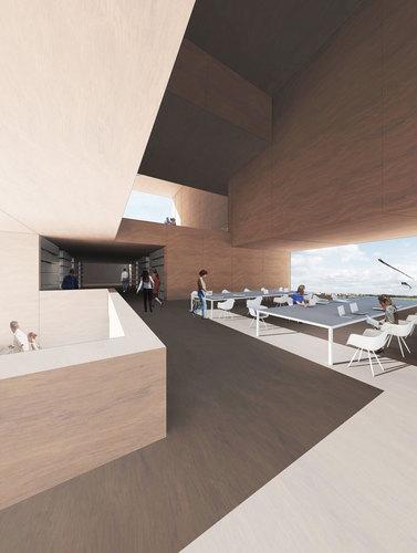 Gussmann Atelier, capatti staubach — New Central Library in Tempelhof-Schöneberg