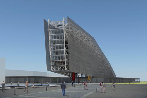 caruso torricella architetti — Nuova Biblioteca Centrale e Regionale a Tempelhof-Schöneberg. Berlin