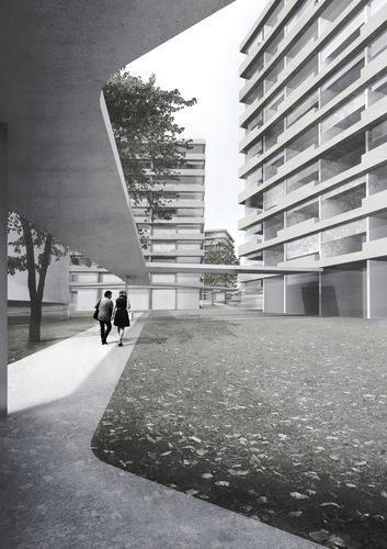 lvph, barbiniarquitectos — Evolution urbaine du perimetre Vieusseux - Villars – Franchises a Geneve - projet d'environ 550 nouveaux logements