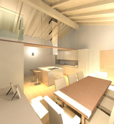 Raffaella guazzoni arredamento e design d 39 interni di un - Cucina con soppalco ...