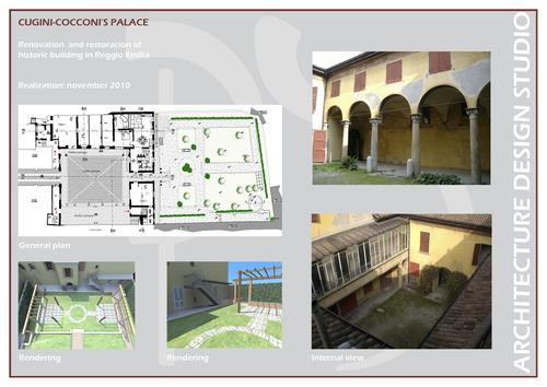 Planning studio s r l palazzo storico cugini cocconi for Bagnoli s r l reggio emilia re