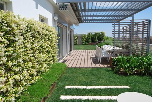 Rosa montemurro giardino pensile divisare by - Giardini sui terrazzi ...