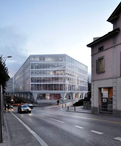 Durisch + Nolli, Stefano Boeri Architetti — Nuovo Campus Universitario SUPSI Città Alta – Stazione FFS Lugano