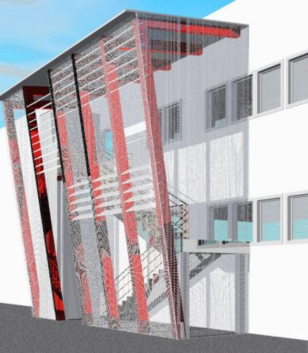 Valentina vettori architetto progetto di copertura di una scala esterna divisare by - Copertura scala esterna ...
