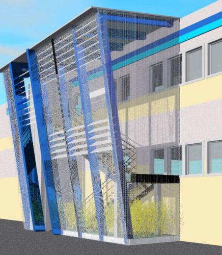 Valentina vettori architetto progetto di copertura di - Copertura scala esterna ...