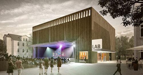 Bez + Kock Architekten, Lohrberg Stadtlandschaftsarchitektur — Neubau Theaterwissenschaft