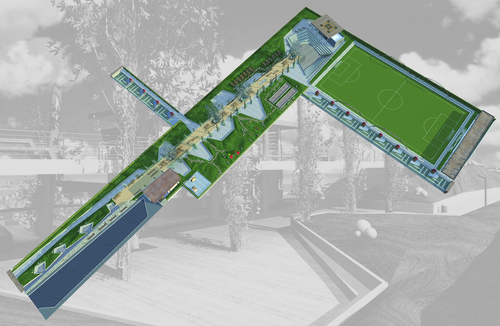 Vincenzo Corrado, gianluca cagnetta — Attrezzate a verde pubblico parco urbano campo di calcio al quartiere Japigia. Bari