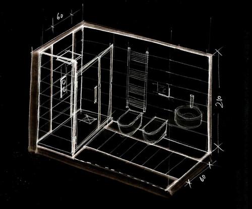 Marcello tomei architetto abitazione al piano attico - Allestimento bagno ...
