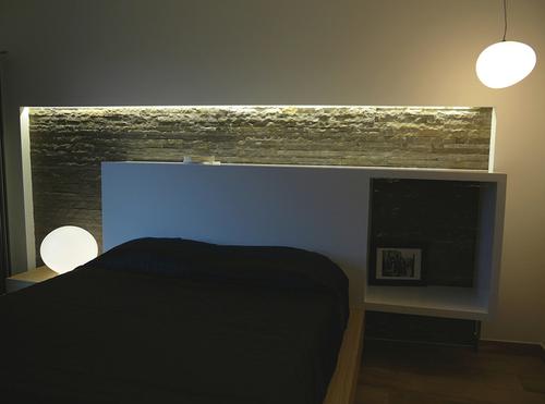 Testata Del Letto In Cartongesso : Parete dietro letto in cartongesso parete attrezzata in