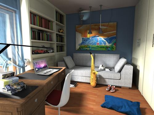 Fabrizio dell 39 anna studio per una camera da letto studio divisare by europaconcorsi - Studio in camera da letto ...