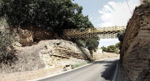 Kengo Kuma Lab, Kengo Kuma & Associates, salvator-john liotta — Passerella pedonale per collegare le aree del Tempio di Eracle e del Tempio di Zeus