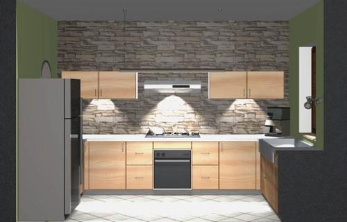 Cucina Con Parete In Pietra - Idee Per La Casa - Syafir.com