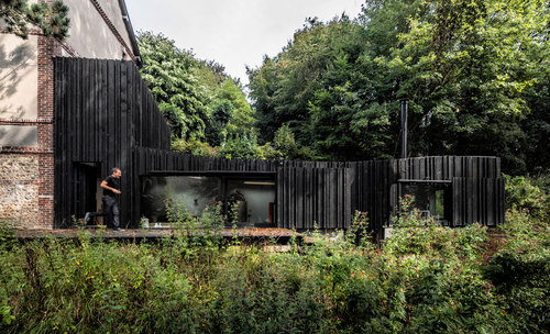 Marchi Architectes — Black Wood House in Normandy