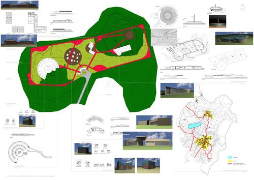 """Lucio De Luca, Mariarosaria De Luca — """"Concetto per lo sviluppo di un'area ricreativa sull'altopiano"""""""