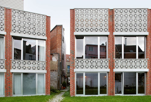 COLLECTIEF NOORD — Mixed use infill: 3 houses and an office
