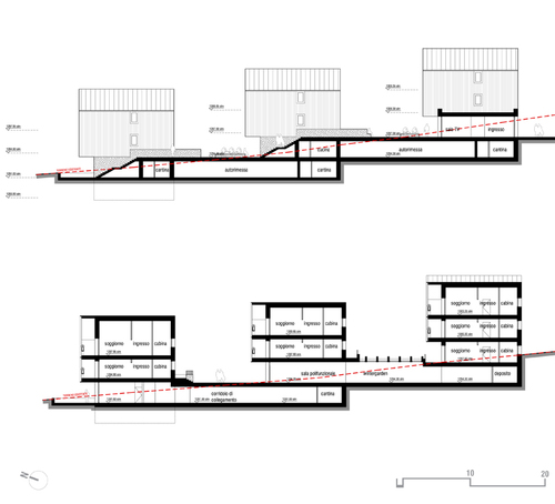 Paola rebellato nicola isetta senior city cortina d for Costruire un garage su un terreno in pendenza