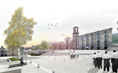 km0architetti, Insula Architettura e Ingegneria S.r.l. — Riqualificazione Piazza S. Francesco. Cava de' Tirreni