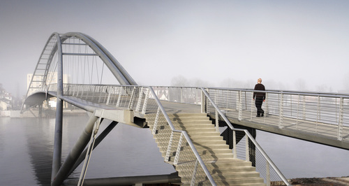 Dietmar Feichtinger Architectes — Footbridge over the Rhine