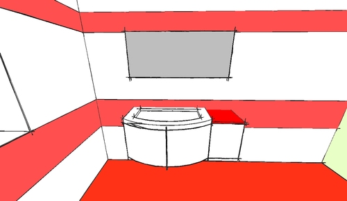 Paolo bardon bagno e arredo bagno rosso e bianco for Arredo bagno rosso