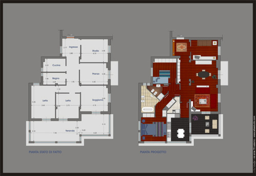 Emilio napoli progetto di ristrutturazione casa privata for Progetto di ristrutturazione