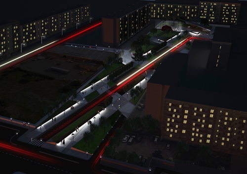 Paolo Mossa Idra, Valeria Moscardin, Emilio Mossa — Concorso di idee per la realizzazione di aree attrezzate a verde pubblico e di un parco urbano nel quartiere Japigia