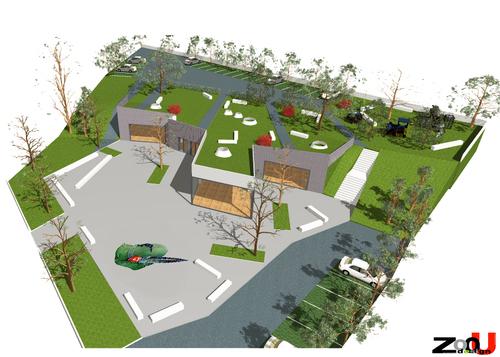 Antonio Felicetti - ZoOu_design — Nuova biblioteca comunale. Briosco