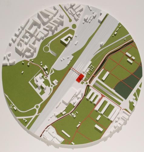 Plastico | Luca Piazza architetto | plasticista — Stazione e ponte ciclopedonale