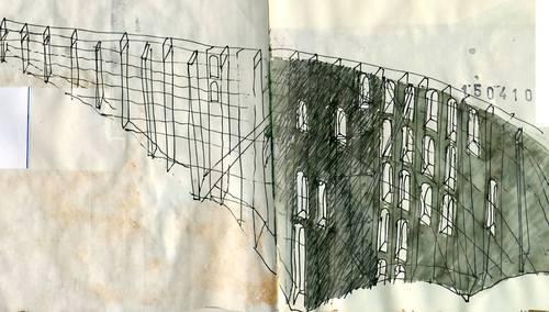 Beniamino Servino — I ponti della valle [Rilievo di un acquedotto post-romano]