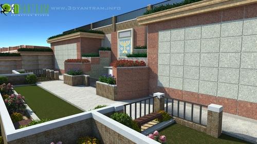 Yantram Studio 3d Rendering Esterno Studio Divisare By