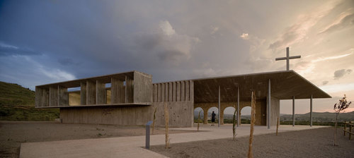 "Otxotorena Arquitectos — Shrine of the Virgin of ""La Antigua"" in Alberite"