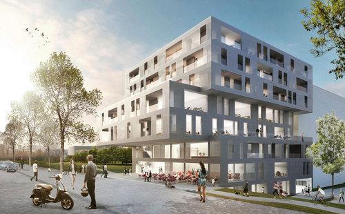 Nussmüller Architekten  — MGC Plaza und Multifunktionsgebäude MGC West