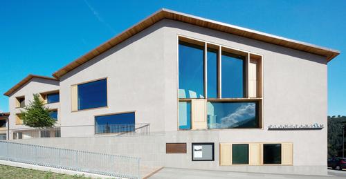 Cez Calderan Zanovello Architetti — Ampliamento scuola elementare: Planetario in San Valentino in Campo nel Comune di Cornedo all'Isarco