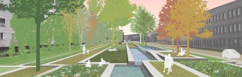 Arriola & Fiol , EGKK Landschaftsarchitektur — Neugestaltung Wagramer Straße