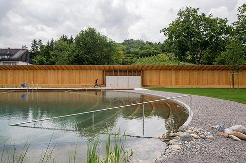 Herzog & de Meuron — Naturbad Riehen, Natural Swimming Pool